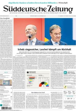 Süddeutsche Zeitung (28.09.2021)
