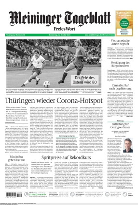 Meininger Tageblatt (14.10.2021)