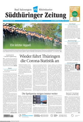 Südthüringer Zeitung (14.10.2021)