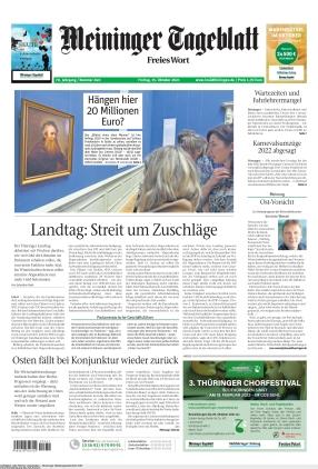 Meininger Tageblatt (15.10.2021)