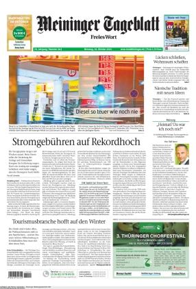 Meininger Tageblatt (19.10.2021)