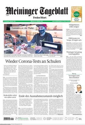 Meininger Tageblatt (20.10.2021)