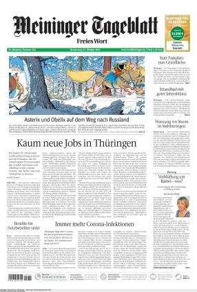 Meininger Tageblatt (21.10.2021)