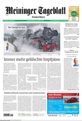 Meininger Tageblatt (23.10.2021)