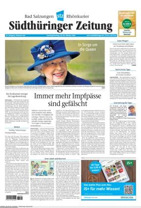 Südthüringer Zeitung (23.10.2021)