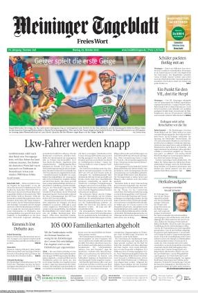 Meininger Tageblatt (25.10.2021)