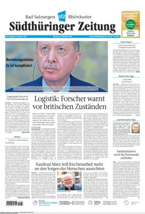 Südthüringer Zeitung (25.10.2021)