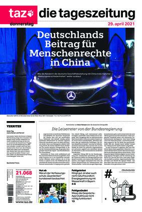 taz.die tageszeitung (29.04.2021)