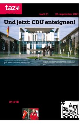 taz.die tageszeitung (28.09.2021)
