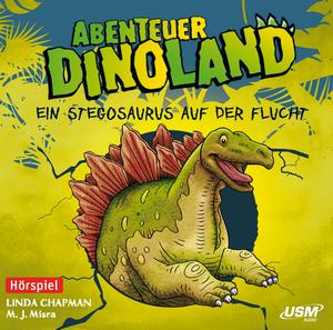 Ein Stegosaurus auf der Flucht