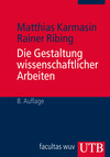 Vergrößerte Darstellung Cover: Die Gestaltung wissenschaftlicher Arbeiten. Externe Website (neues Fenster)