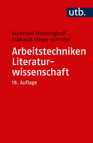 Arbeitstechniken Literaturwissenschaft