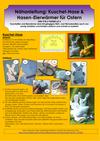 Nähanleitung Kuschel-Hase & Hasen-Eierwärmer für Ostern
