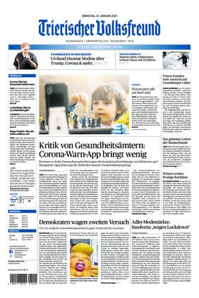 Trierischer Volksfreund - Zeitung für Bitburg-Prüm (12.01.2021)
