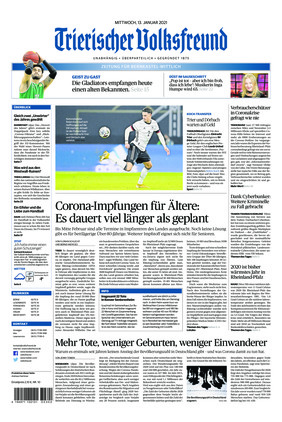 Trierischer Volksfreund - Zeitung für Bernkastel-Wittlich (13.01.2021)