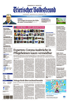 Trierischer Volksfreund - Zeitung für Bitburg-Prüm (14.01.2021)