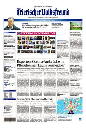 Trierischer Volksfreund - Zeitung für Bernkastel-Wittlich (14.01.2021)