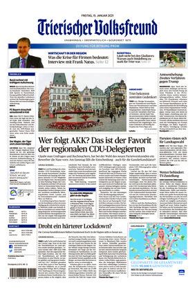 Trierischer Volksfreund - Zeitung für Bitburg-Prüm (15.01.2021)