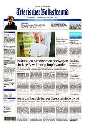 Trierischer Volksfreund - Zeitung für Trier und das Trierer Land (16.01.2021)