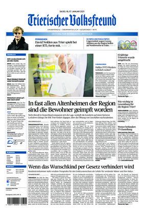 Trierischer Volksfreund - Zeitung für Bernkastel-Wittlich (16.01.2021)