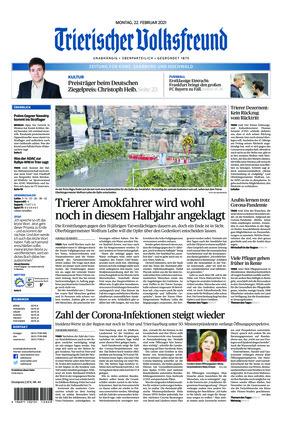 Trierischer Volksfreund - Zeitung für Konz, Saarburg und den Hochwald (22.02.2021)