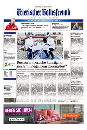 Trierischer Volksfreund - Zeitung für Konz, Saarburg und den Hochwald (23.02.2021)
