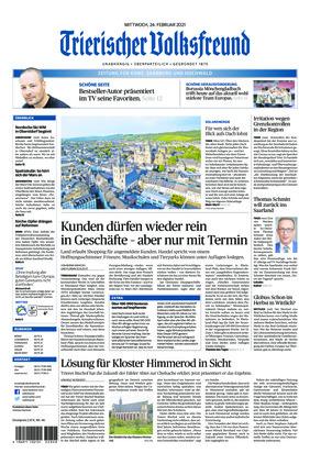 Trierischer Volksfreund - Zeitung für Konz, Saarburg und den Hochwald (24.02.2021)