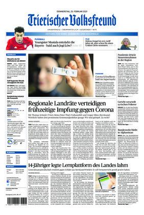 Trierischer Volksfreund - Zeitung für Konz, Saarburg und den Hochwald (25.02.2021)