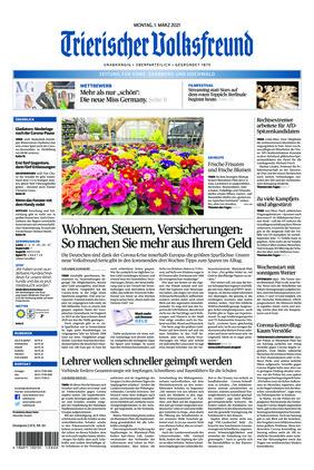 Trierischer Volksfreund - Zeitung für Konz, Saarburg und den Hochwald (01.03.2021)