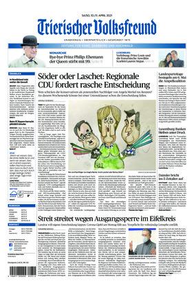 Trierischer Volksfreund - Zeitung für Konz, Saarburg und den Hochwald (10.04.2021)
