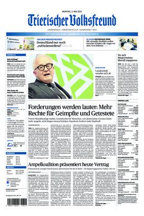 Trierischer Volksfreund - Zeitung für Konz, Saarburg und den Hochwald (03.05.2021)