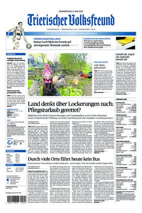 Trierischer Volksfreund - Zeitung für Konz, Saarburg und den Hochwald (06.05.2021)
