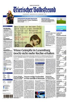 Trierischer Volksfreund - Zeitung für Konz, Saarburg und den Hochwald (08.05.2021)