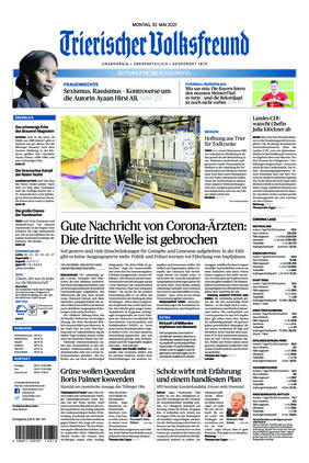 Trierischer Volksfreund - Zeitung für die Vulkaneifel (10.05.2021)
