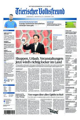Trierischer Volksfreund - Zeitung für Konz, Saarburg und den Hochwald (12.05.2021)