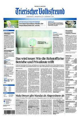 Trierischer Volksfreund - Zeitung für Konz, Saarburg und den Hochwald (14.05.2021)
