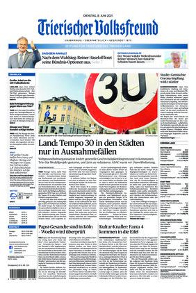 Trierischer Volksfreund - Zeitung für Trier und das Trierer Land (08.06.2021)
