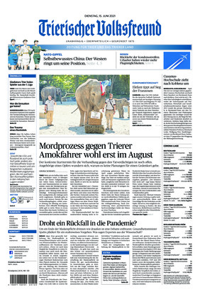 Trierischer Volksfreund - Zeitung für Trier und das Trierer Land (15.06.2021)