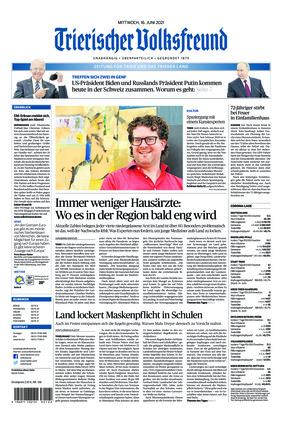 Trierischer Volksfreund - Zeitung für Trier und das Trierer Land (16.06.2021)