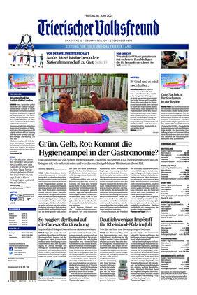 Trierischer Volksfreund - Zeitung für Trier und das Trierer Land (18.06.2021)