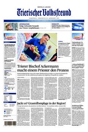 Trierischer Volksfreund - Zeitung für Konz, Saarburg und den Hochwald (21.06.2021)