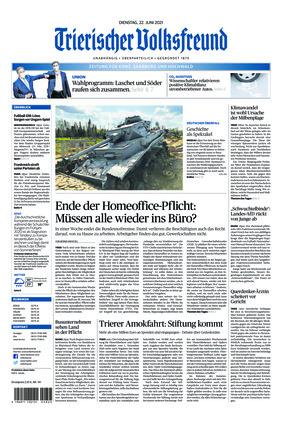 Trierischer Volksfreund - Zeitung für Konz, Saarburg und den Hochwald (22.06.2021)