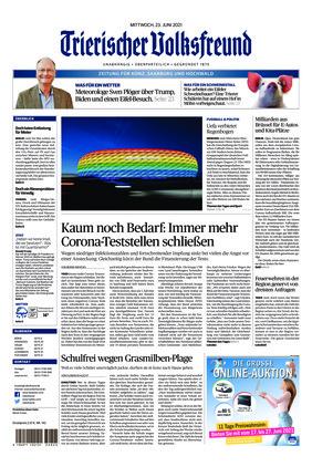 Trierischer Volksfreund - Zeitung für Konz, Saarburg und den Hochwald (23.06.2021)