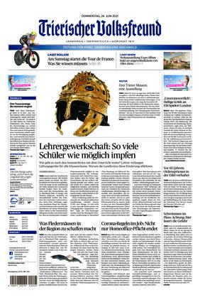 Trierischer Volksfreund - Zeitung für Konz, Saarburg und den Hochwald (24.06.2021)