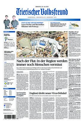 Trierischer Volksfreund - Zeitung für Bernkastel-Wittlich (20.07.2021)