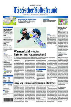 Trierischer Volksfreund - Zeitung für die Vulkaneifel (21.07.2021)