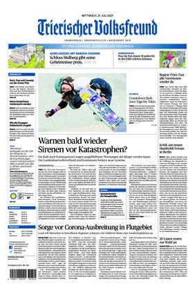Trierischer Volksfreund - Zeitung für Konz, Saarburg und den Hochwald (21.07.2021)