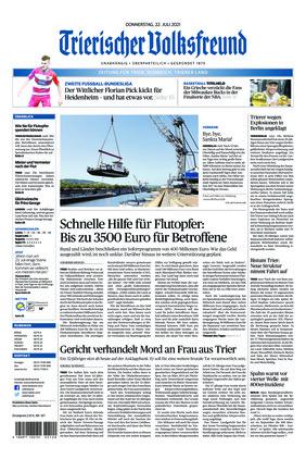 Trierischer Volksfreund - Zeitung für Trier und das Trierer Land (22.07.2021)
