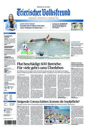 Trierischer Volksfreund - Zeitung für Konz, Saarburg und den Hochwald (26.07.2021)