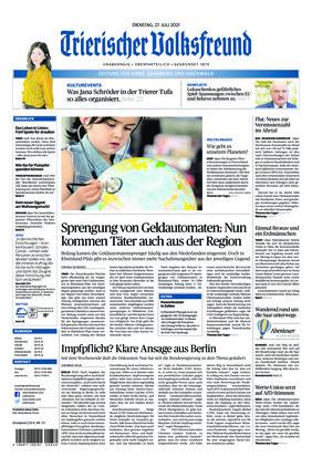 Trierischer Volksfreund - Zeitung für Konz, Saarburg und den Hochwald (27.07.2021)